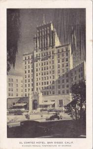 Exterior View of El Cortez Hotel, San Diego, California, 10-20's