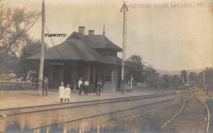 ARCADIA, MISSOURI TRAIN  DEPOT-EARLY 1900'S RPPC REAL PHOTO  POSTCARD