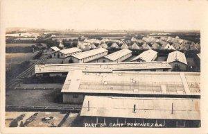 Camp Pontanezen Brest France Barracks Real Photo Vintage Postcard JI658351