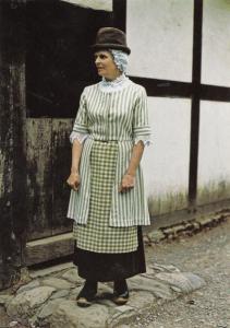 Denbighshire 18th Century Rural Wales Fashion Dress Welsh Costume Postcard
