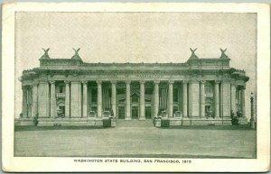 1915 PPIE San Francisco Expo World's Fair Postcard Washington State Building