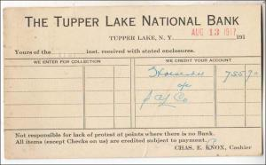 NY - The Tupper Lake National Bank, 1917