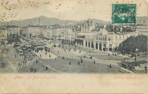 France Postcard Nice La Place Massena panorama tramway