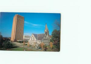 Vintage Postcard Aerial University University of Massachutes Chapel Mass# 2955
