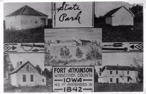 RPPC FORT ATKINSON IA - 1842 Views of Iowa State Park - Photo Postcard ca 1950s