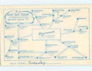 1950's RESTAURANT SCENE Nashville Tennessee TN AE0256