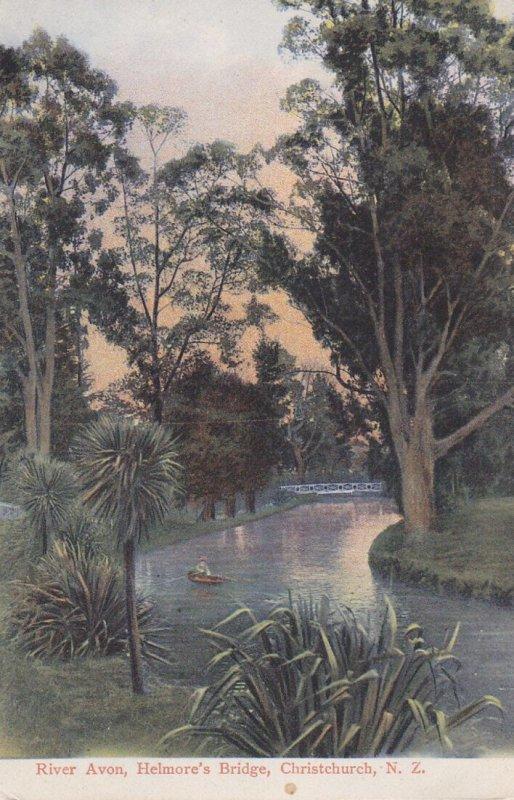 CHRISTCHURCH, New Zealand, 1908; River Avon, Helmore's Bridge