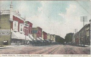 PRINCETON , Illinois , 1900-10s ; Main Street