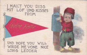 Iowa Cedar Falls 1913 Pennant Series
