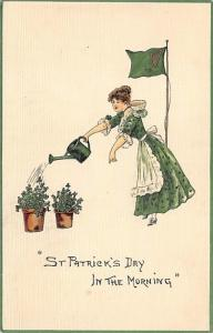 In the morning St. Patrick's Day Postcard 1912