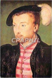Postcard Modern Corneille de Lyon (XVI Workshop s) Portrait of a Man Musee de...