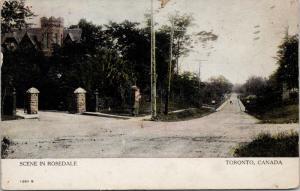 Rosedale Ontario ON c1906 Postcard D72