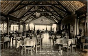 Ciudad Valles San Luis Potosi Mexico~Comedor del Hotel Valles~Dining~1940s RPPC
