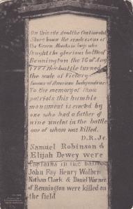 American Revolution Continental Store House Marker, Battle of Bennington, Ver...