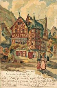 Germany - Bacharach Altes Haus Litho 04.53