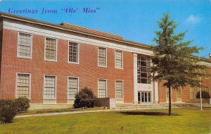 Oxford~University of Mississippi~Ole Miss~The Library~1960s Postcard
