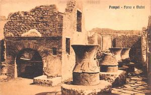 Italy Old Vintage Antique Post Card Pompei Forno e Mulini Unused