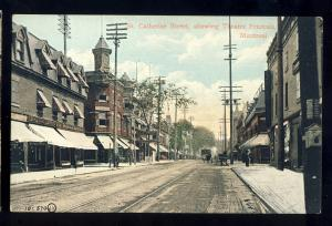 Montreal, Quebec, Canada  Postcard, St Catherine Street, Theatre Francais
