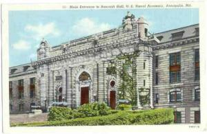 Bancroft Hall, U.S. Naval Academy, Annapolis, Maryland, MD, 1949 Linen