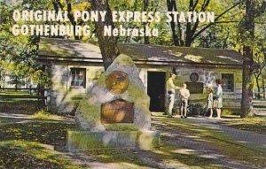 Nebraska Gothenburg Greetings From The Original Pony Express