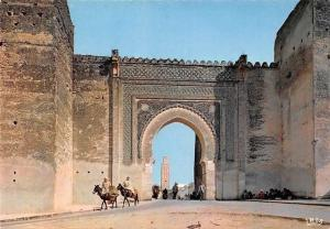 Morocco Meknes Bad Bardai Gate Riding Donkeys
