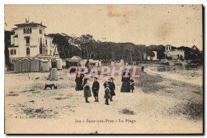 Old Postcard Juan Les Pins Beach