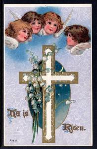 Easter,He is Risen,Cross,Angels,Flowers