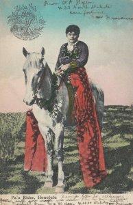 HONOLULU , Hawaii , 1909 ; Pa'u rider