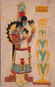 Rio Grande Pueblo Indian Corn Dancer Yucca Veneer Card