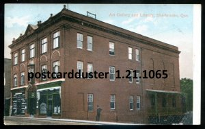 1065 - SHERBROOKE Quebec Postcard 1900s Gallery & Library