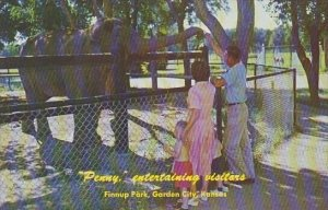 Penny Entertaining Visitors Finnup Park Garden City Kansas
