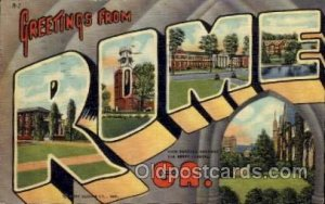 Rome, Georgia Large Letter Town 1954 postal used 1954