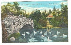Bridge, Swans, Beacon Hills Park, Victoria, British Columbia, Canada, PU-1931