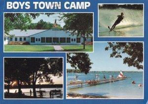 Boys Town Camp West Lake Okoboji Director Hand Signed Iowa USA Postcard