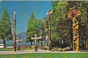 Totem Poles , Stanley Park , Vancouver , B.C. , Canada , 50-60s #2