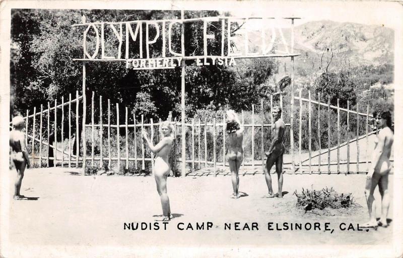 C75/ Elsinore California Ca Postcard Real Photo RPPC 1948