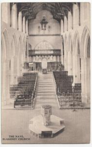 Norfolk; The Nave, Blakeney Church PPC By JC Parker, Unposted, c 1920's