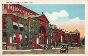 Mechanics Building, Boston, Massachusetts, Early Postcard, Used
