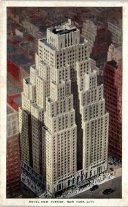 NEW YORK CITY, NY    HOTEL  NEW  YORKER   1936  Kropp  Linen   Postcard