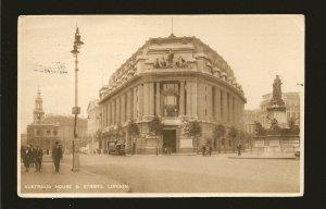 UK Postmarked 1927 London SWI Australia House & Strand London Photo Postcard