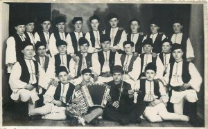 Ethnic musical folk types costumes Romania Poiana Sibiu photo Azuga photographer