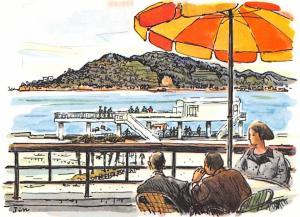 Japan Old Vintage Antique Post Card Mikimoto Pearl Island Unused