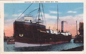 Shifting To Home Dock, Green Bay, Wisconsin, PU-1946
