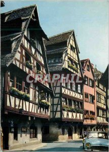 Postcard Modern picturesque Alsace Strasbourg (Bas Rhin) The Street of Bath &...