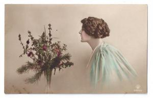 Beautiful Woman Pretty Lady Tinted Real Photo Rotophot 1914