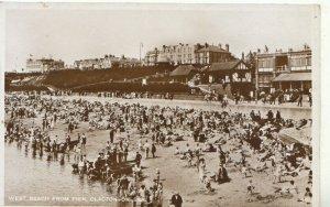 Essex Postcard - West Beach From Pier - Clacton-On-Sea - Ref TZ4094