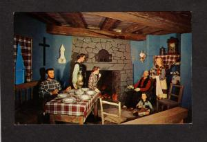 QC Basilica Wax Museum St Anne Ste Anne de Beaupre Canada Carte Postale Quebec