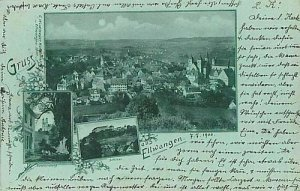 11745 - Ansichtskarten  POSTCARD - Deutschland GERMANY - GRUSS AUS Ellwangen