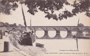 LIBOURNE, Gironde, France, 1900-1910's; Quai Souchet Et Pont De Pierre