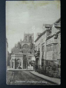 Dorset SHERBORNE LOng Street & Abbey c1904 Postcard by Frith